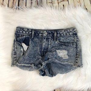 Bullhead Denim&co Acid Wash Distressed Jean Shorts